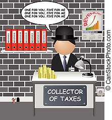 impuestos, cómico, estado