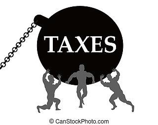 impuestos, carga
