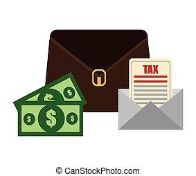 impuestos, design.