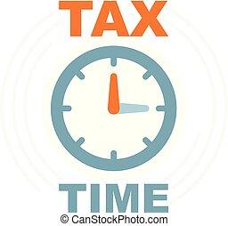 impuestos, tiempo, paga, pago, icono, reloj, recordatorio,...