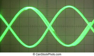Impulse Signal - Parabolic Curve Green screen old...