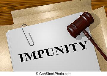 IMPUNITY - legal concept