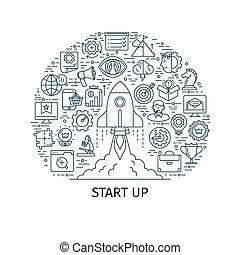 início, conceito, cima, negócio