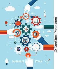 início, negócio, empreendedorismo