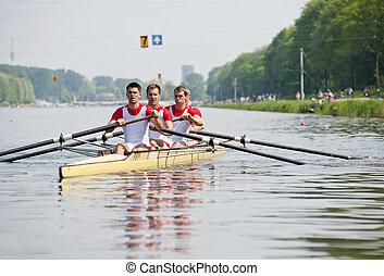 início, rowers