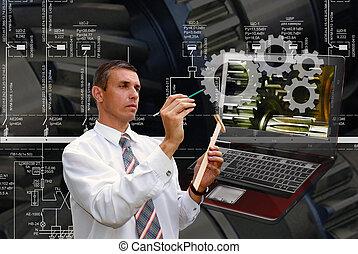 inženýrství, průmyslový, software