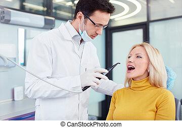 In a dental clinic