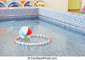 In a preschool swimming pool