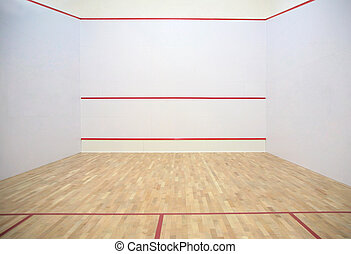 In a sports tennis hall