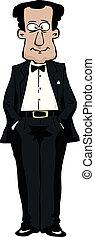 In a tuxedo - A man in a tuxedo vector illustration