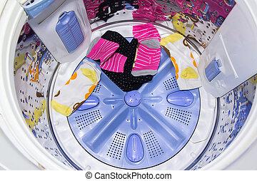 In a washing machine