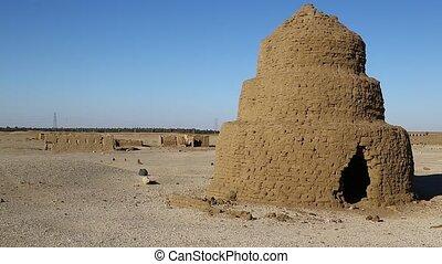 muslim burial near the antique city - in africa sudan island...