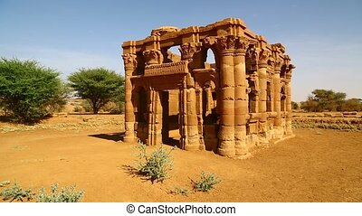 the antique temple of the black pharaohs