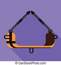In air sleep tool icon, flat style