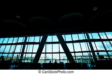 In airport