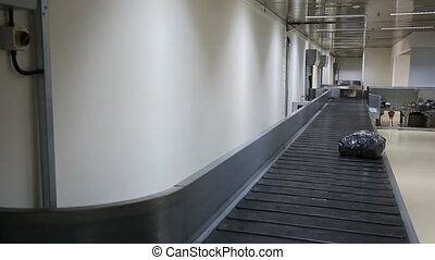 In airport there is the process of luggage belt working, sorting the baggage