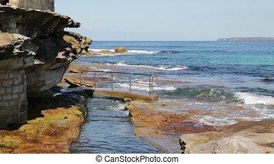 coastline in the ocean and sea