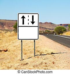 in australia the sign empty