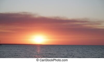 the sunset in the ocean like concept of relax and holiday