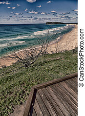 in australia the walkway to the beach