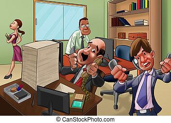 in, büro