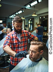 In barber shop
