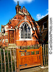 in cemetery  england europe old