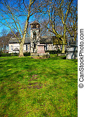 in cemetery  england old construction and    history