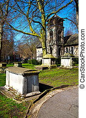in cemetery  europe old construction and    history