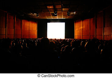 in cinema, focus on screen