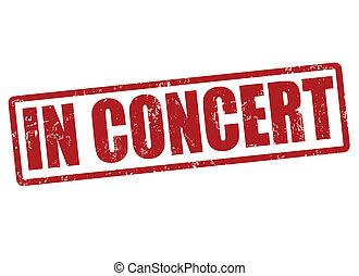 in, concert, briefmarke