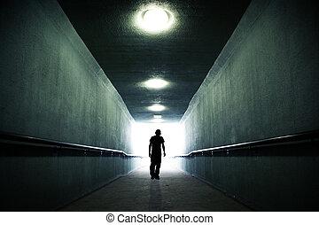 in, de, licht