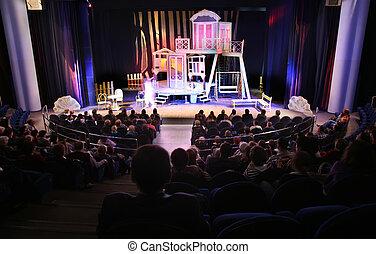 in, de, theater