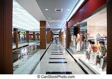 in, de, winkel, van, de, modieus, kleding