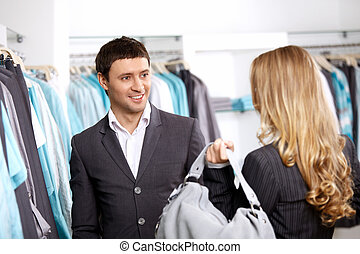 in, de winkel van kleren