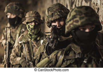 In defence of country - Hard army training to defend their...