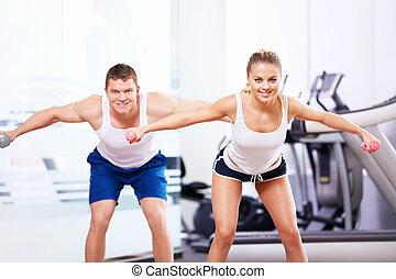in, der, fitneßklub