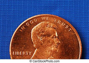in, dio, noi, fiducia, da, il, penny