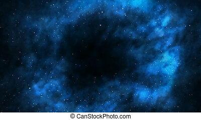 in, een, zwart gat