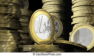 In euro coin bank  - business concept