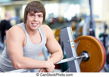 In fitness club