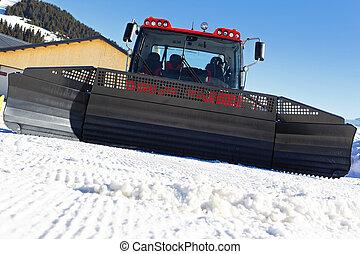 in front of snowplow