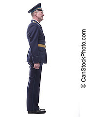 in full growth. officer of the air force of the Soviet army. isolated on a white background.