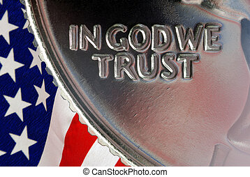 In God We Trust - Red, White, and Blue From American Flag ...