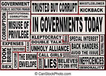 In Governments Today - A collage of all the usual headline...