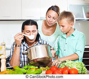 In home kitchen