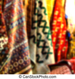 in iran scarf in a  market texture