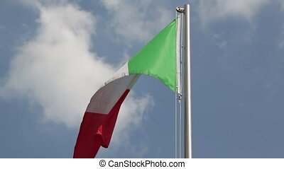 in italy  waving flag