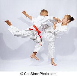 In karategi the children are beat