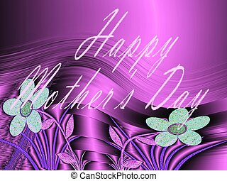 in  letters, happy mothers day, colorful background